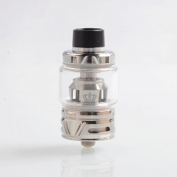 Authentic Uwell Crown 4 IV Sub Ohm Tank Clearomizer - Silver, Stainless Steel + Pyrex Glass, 6ml, 0.4 Ohm, 28mm Diameter