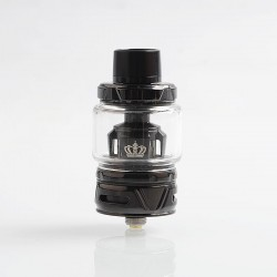 Authentic Uwell Crown 4 IV Sub Ohm Tank Clearomizer - Black, Stainless Steel + Pyrex Glass, 6ml, 0.4 Ohm, 28mm Diameter