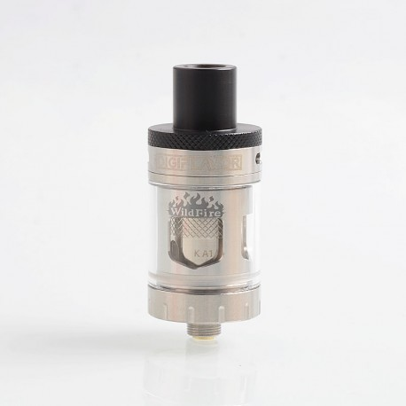 Authentic Digiflavor Wildfire Flavor Sub Ohm Tank Atomizer - Silver, Stainless Steel, 3ml, 0.5 Ohm, 22mm Diameter