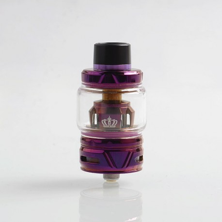 Authentic Uwell Crown 4 IV Sub Ohm Tank Clearomizer - Purple, Stainless Steel + Pyrex Glass, 6ml, 0.4 Ohm, 28mm Diameter