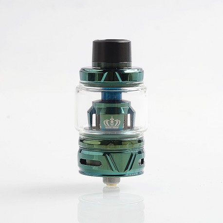 Authentic Uwell Crown 4 IV Sub Ohm Tank Clearomizer - Green, Stainless Steel + Pyrex Glass, 6ml, 0.4 Ohm, 28mm Diameter