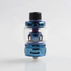 Authentic Uwell Crown 4 IV Sub Ohm Tank Clearomizer - Blue, Stainless Steel + Pyrex Glass, 6ml, 0.4 Ohm, 28mm Diameter