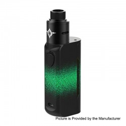 Authentic Rincoe Manto Mini 90W VW Box Mod + Metis RDA Kit - Green, PC, 1~90W, 1 x 18650, 24mm