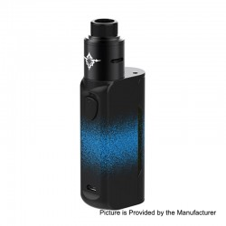 Authentic Rincoe Manto Mini 90W VW Box Mod + Metis RDA Kit - Blue, PC, 1~90W, 1 x 18650, 24mm