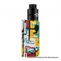 Authentic Rincoe Manto Mini 90W VW Box Mod + Metis RDA Kit - Graffiti A, PC, 1~90W, 1 x 18650, 24mm