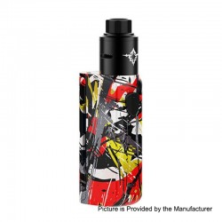 Authentic Rincoe Manto Mini 90W VW Box Mod + Metis RDA Kit - Graffiti C, PC, 1~90W, 1 x 18650, 24mm