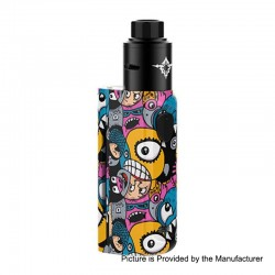 Authentic Rincoe Manto Mini 90W VW Box Mod + Metis RDA Kit - Monster, PC, 1~90W, 1 x 18650, 24mm