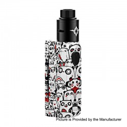 Authentic Rincoe Manto Mini 90W VW Box Mod + Metis RDA Kit - Panda, PC, 1~90W, 1 x 18650, 24mm