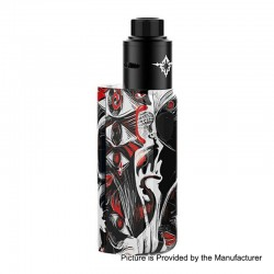 Authentic Rincoe Manto Mini 90W VW Box Mod + Metis RDA Kit - Devil's Eye, PC, 1~90W, 1 x 18650, 24mm