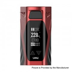 Authentic Rincoe Manto X 228W TC VW Variable Wattage Box Mod - Red, Zinc Alloy, 1~228W, 2 x 18650