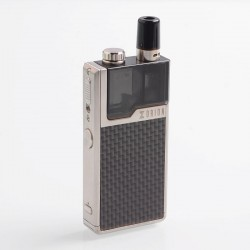Authentic Lost Vape Orion DNA GO 40W 950mAh All-in-one Starter Kit - Silver Textured Carbon Fiber, 2ml, 0.25 Ohm / 0.5 Ohm