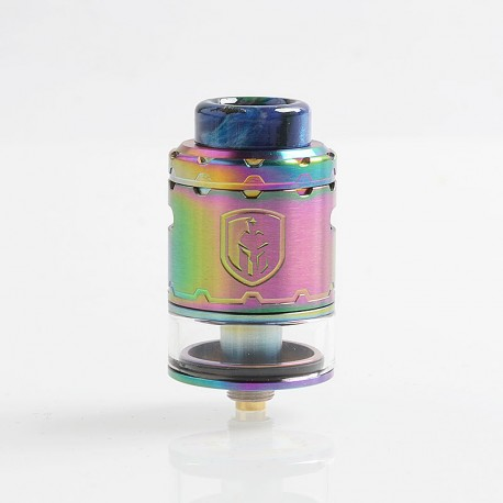 Authentic Wotofo Faris RDTA Rebuildable Dripping Tank Atomizer w/ BF Pin - Rainbow, Stainless Steel, 3ml, 24mm Diameter