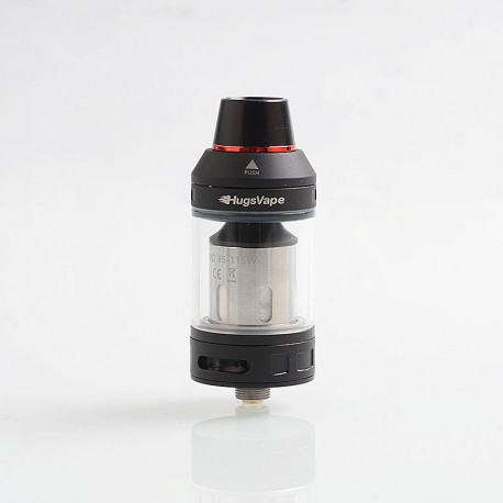 Authentic Hugsvape Magician Mesh Sub Ohm Tank Clearomizer - Black, Stainless Steel, 5ml, 24mm Diameter