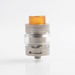 Authentic StageVape Armor RTA Rebuildable Tank Atomizer - Silver, Stainless Steel, 3ml, 25mm Diameter