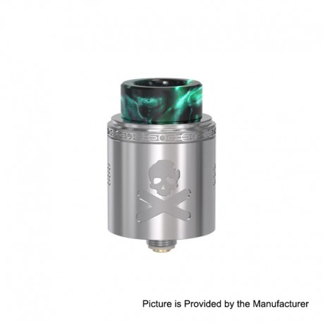 Authentic Vandy Vape Bonza V1.5 RDA Rebuildable Dripping Atomizer w/ BF Pin - Silver, 24mm Diameter