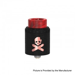 Authentic Vandy Vape Bonza V1.5 RDA Rebuildable Dripping Atomizer w/ BF Pin - Copper Wrinkle Painted Black, 24mm Diameter
