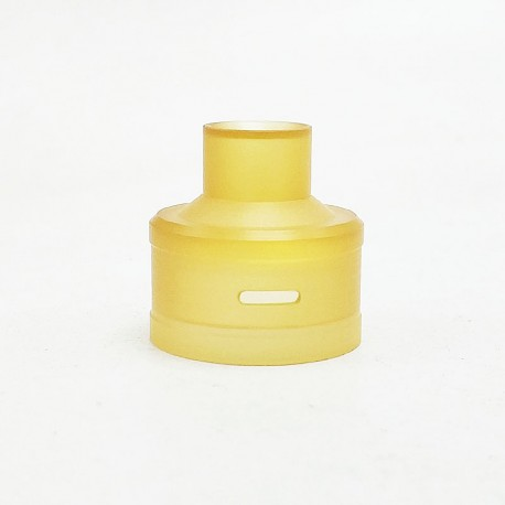 Coppervape Replacement Top Cap for Royal Atty DB Style RDA - Yellow, PEI, 22mm Diameter