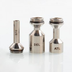 Authentic Ehpro ATL / SUB / DEL Adaptors Kit for Eciggity Morph Tank Atomizer - Stainless Steel, 4.8ml / 3.6ml / 5.7ml