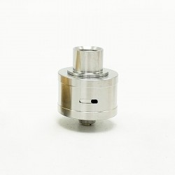 Coppervape Royal Atty DB Style RDA Rebuildable Dripping Atomizer w/ BF Pin - Silver, 316 Stainless Steel, 22mm Diameter