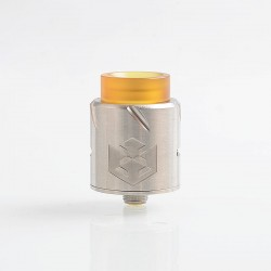 Authentic Vandy Vape Paradox RDA Rebuildable Dripping Atomizer w/ BF Pin - Silver, Stainless Steel, 24mm Diameter