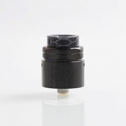 Authentic Ehpro Lock RDA Rebuildable Dripping Atomizer w/ BF Pin - Black, Stainless Steel, 24mm Diameter