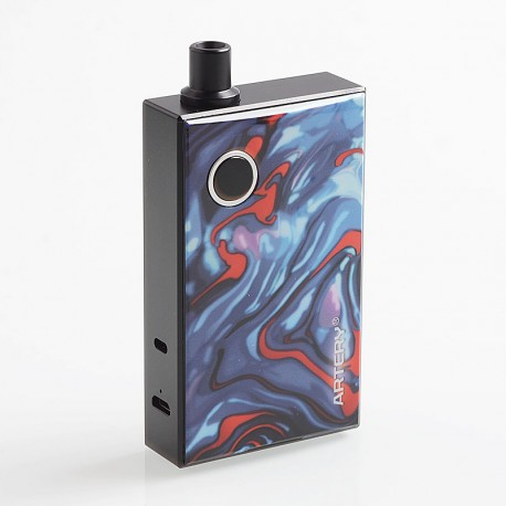 Authentic Artery PAL 1200mAh AIO All-in-One Starter Kit - Azure Resin, Aluminum, 3ml, 0.7 Ohm / 1.8 Ohm