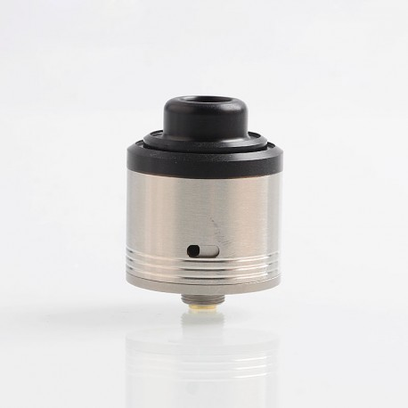 Authentic Gas Mods G.R.1 GR1 Pro RDA Rebuildable Dripping Atomizer w/ BF Pin - Silver, Stainless Steel, 24mm Diameter