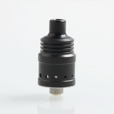Authentic Ambition Mods Spiral MTL RDA Rebuildable Dripping Atomizer w/ BF Pin - Black, 316 Stainless Steel, 18mm Diameter