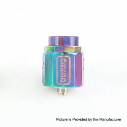 Authentic Damn Vape Dread RDA Rebuildable Dripping Atomizer w/ BF Pin - Rainbow, Stainless Steel, 24mm Diameter