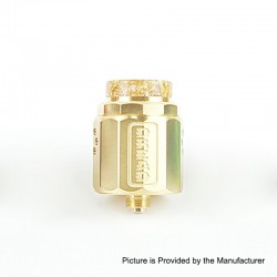 Authentic Damn Vape Dread RDA Rebuildable Dripping Atomizer w/ BF Pin - Gold, Stainless Steel, 24mm Diameter