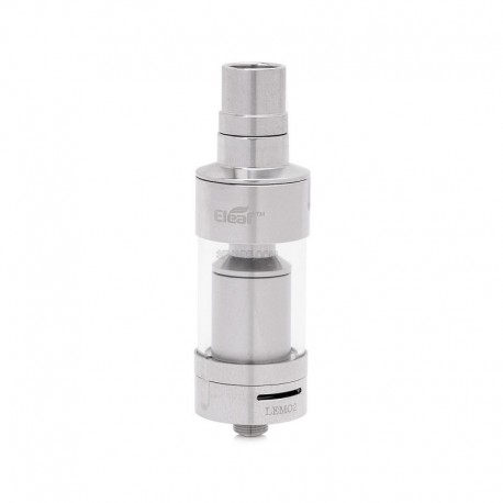 Authentic Eleaf Lemo II RTA Rebuildable Tank Atomizer - Silver, Stainless Steel, 3.8ml, 0.5 Ohm, 23mm Diameter
