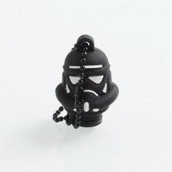 Authentic Vapesoon Stormtrooper 510 Drip Tip w/ Cap for RDA / RTA / Sub Ohm Tank Atomizer - Black, POM + Silicone