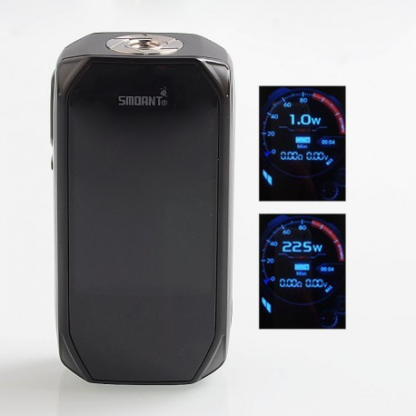 Authentic Smoant Naboo 225W TC VW Variable Wattage Box Mod - Black, 1~225W, 2 x 18650