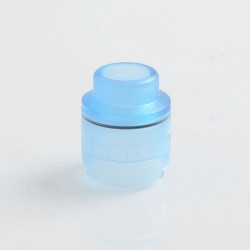 Replacement Drip Tip + Top Cap for DEJAVU DJV RDTA - Transparent Blue, PC