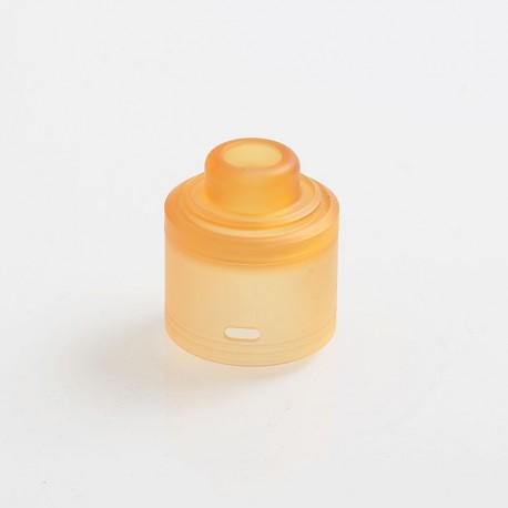 Authentic GAS Mods Replacement Top Cap for G.R.1 GR1 Pro RDA - Amber, PMMA, 24mm Diameter