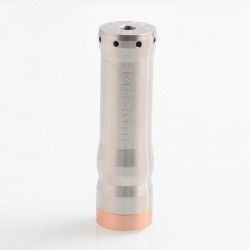 Kennedy Vindicator Style Hybrid Mechanical Tube Mod - Silver, Stainless Steel, 1 x 18650 / 20700 / 21700