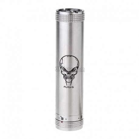 Authentic SmokTech SMOK FURY-S Mechanical Tube Mod - Silver, Stainless Steel, 1 x 18650
