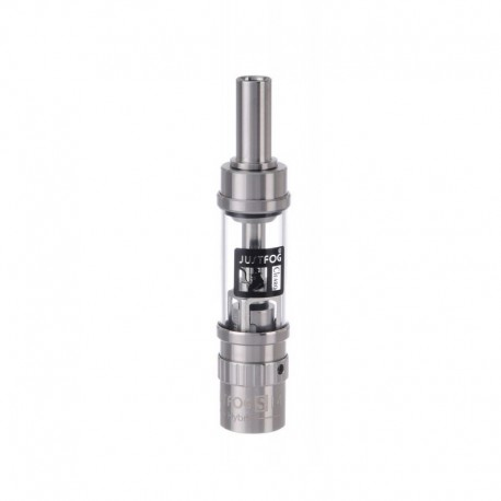 Authentic Justfog S14 Hybrid Clearomizer - Silver, Stainless Steel, 1.8ml, 1.6 Ohm, 14mm Diameter