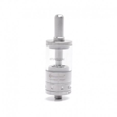 Authentic Kanger Aerotank Mega Clearomizer - Silver, Stainless Steel, 3.8ml, 2.0 Ohm, 22mm Diameter