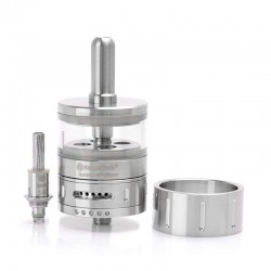 Authentic Kanger Aerotank Giant 510 BDC Clearomizer - Silver, Stainless Steel + Glass, 4.5ml, 1.8 Ohm, 30mm Diameter