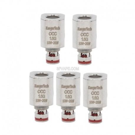 Authentic Kanger Vertical OCC Coil Heads for Subtank Plus / Mini / Nano - 1.5 Ohm (10~26W) (5 PCS)