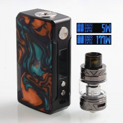 Authentic Voopoo Drag 2 177W TC VW Box Mod + UForce T2 Tank Kit - B-Dawn, Zinc Alloy + Resin, 2 x 18650, 5~177W, 5ml, 28mm