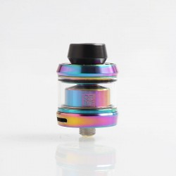 Authentic OFRF Gear RTA Rebuildable Tank Atomizer - Rainbow, Stainless Steel, 3.5ml, 24mm Diameter
