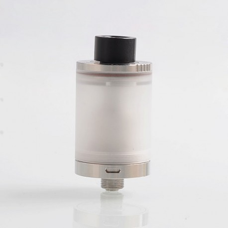 YFTK Doggystyle 2K18 V2 Style RTA Rebuildable Tank Atomizer - Silver, 316 Stainless Steel + PC, 3.5ml, 22mm Diameter