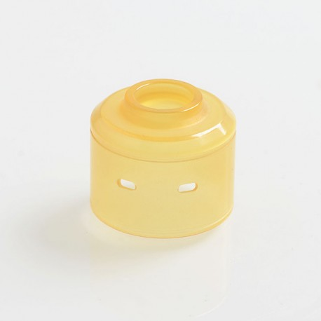 YFTK Replacement Top Cap for Citadel Style RDA Rebuildable Dripping Atomizer - Yellow, PEI