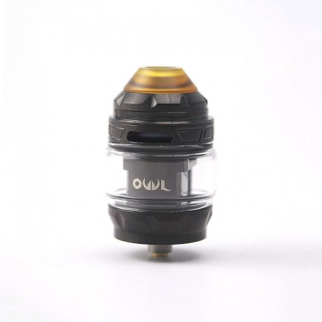 Authentic Advken Owl Sub Ohm Tank Clearomizer - Black, Stainless Steel + Pyrex Glass, 4ml, 25mm Diameter