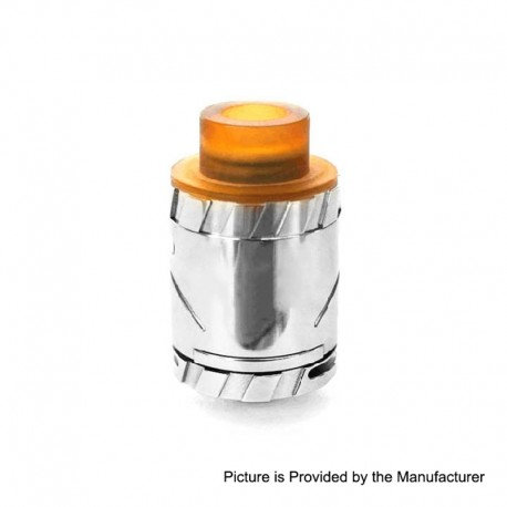 Amadeus Style MTL RDA Rebuildable Dripping Atomizer w/ BF pin - Silver, 316 Stainless Steel, 24mm Diameter