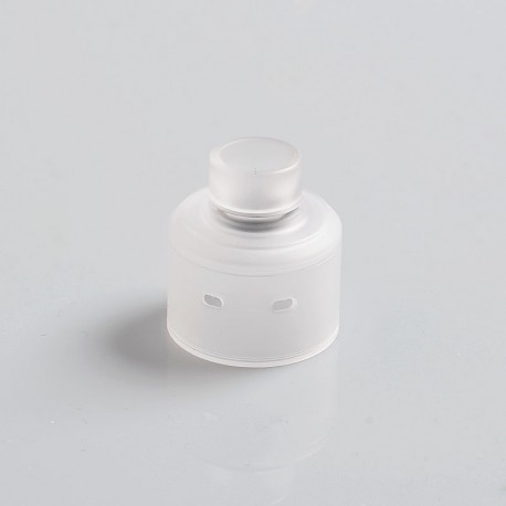 Vapeasy Replacement Top Cap + Drip Tip for Citadel Style RDA Rebuildable Dripping Atomizer - Transparent, PC