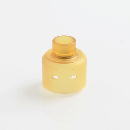 Vapeasy Replacement Top Cap + Drip Tip for Citadel Style RDA Rebuildable Dripping Atomizer - Yellow, PEI