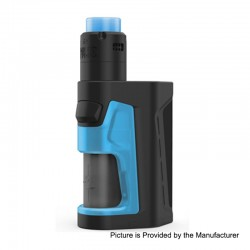 Authentic Vandy Vape Pulse Dual 220W TC VW Squonk Box Mod + Pulse V2 RDA Kit - Black Blue, 5~220W, 7ml, 2 x 18650, 24mm